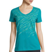 Made For Life™ Short-Sleeve V-Neck Tee - Petite
