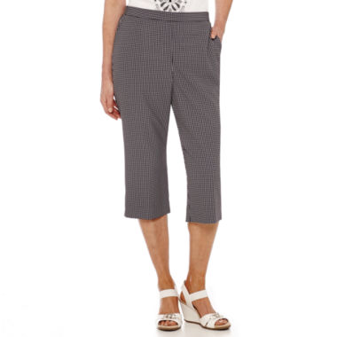 jcpenney.com | Alfred Dunner® Weekend Oasis Gingham Capris