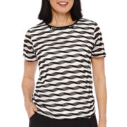 Alfred Dunner® Weekend Oasis Short-Sleeve Textured Top