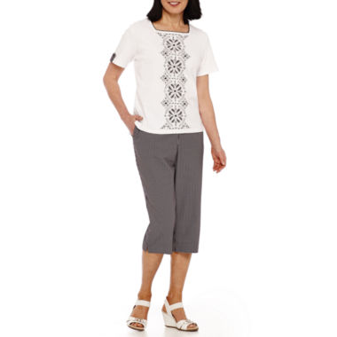 jcpenney.com | Alfred Dunner® Weekend Oasis Short-Sleeve Top Or Capris