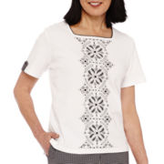 Alfred Dunner® Weekend Oasis Short-Sleeve Top