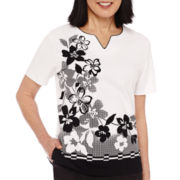 Alfred Dunner® Weekend Oasis Short-Sleeve Floral Top