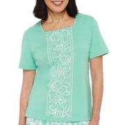 Alfred Dunner® Acapulco Short-Sleeve Embroidery Top