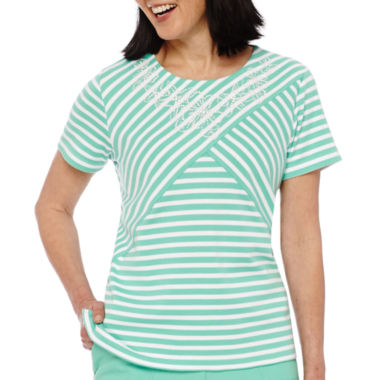 jcpenney.com | Alfred Dunner® Acapulco Short-Sleeve Striped Top