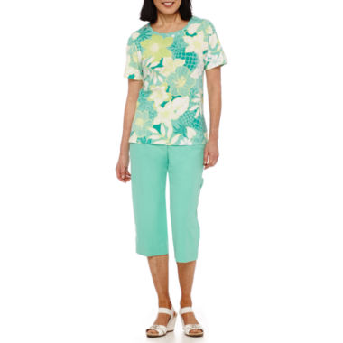 jcpenney.com | Alfred Dunner® Acapulco Short-Sleeve Floral Top or Capris