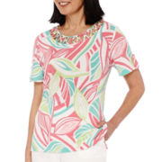 Alfred Dunner® Acapulco Short-Sleeve Burnout Top