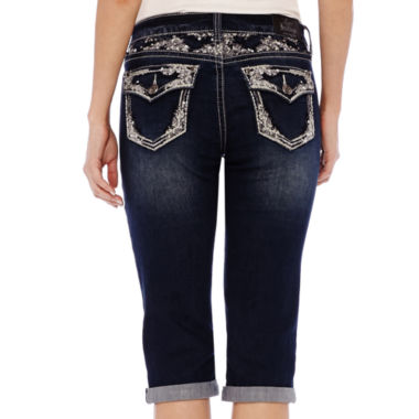 jcpenney.com | ZCO Bling Flap Pocket with Yoke Detail Cropped Jeans - Petite