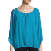 Alyx® Lattice Sleeve Peasant Top