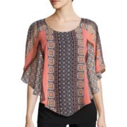 Alyx® Butterfly-Sleeve Knit Popover Top with Tank Top