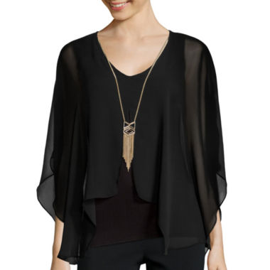jcpenney.com | Alyx® Woven Top with Necklace