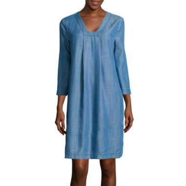 jcpenney.com | Stylus™ 3/4-Sleeve Tunic Dress - Tall