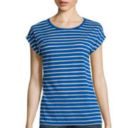 Stylus ™ Short-Sleeve Eyelet Stripe T-Shirt