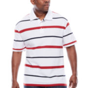 The Foundry Supply Co.™ Easy Care Striped Polo - Big & Tall