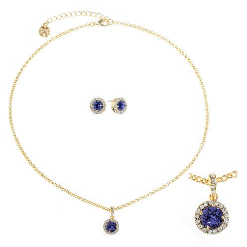Monet Jewelry Womens 2-pc. Purple Jewelry Set