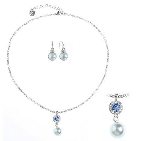 Monet Jewelry Womens 2-pc. Gray Jewelry Set