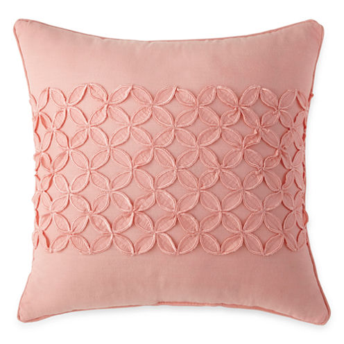 Jcpenney Decorative Pillow : Home Expressions Emma Floral Square Decorative Pillow - JCPenney