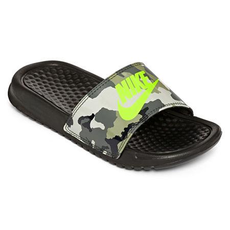 Upc 884500454767 Nike Benassi Camo Boys Slide Sandals