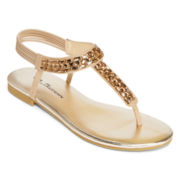 CL by Laundry Noble Embellished T-Strap Sandals