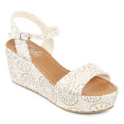 Diba® London Wales Quarter Strap Print Wedge Sandals