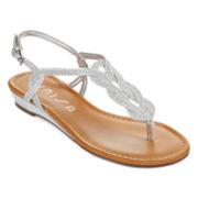 Unisa® Lorainy Glitter T-Strap Sandals