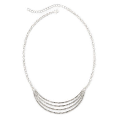 jcpenney.com | Vieste® Crystal 4-Row Smile Necklace