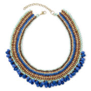 Decree® Seed Bead Collar Necklace
