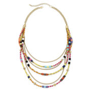 Arizona Seed Bead Multi-Row Necklace