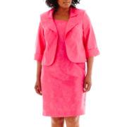 Dana Kay Embroidered Jacket Dress - Plus
