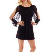 Scarlett Lace Sheer Long-Sleeve Romper