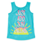 Okie Dokie® Graphic Tank Top – Toddler Girls 2t-5t