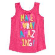 Okie Dokie® Graphic Tank Top – Toddler Girls 2t-5t