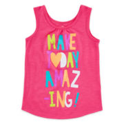 Okie Dokie® Graphic Tank Top – Preschool Girls 4-6x