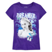 Cinderella Glitter Graphic Tee – Girls 7-16