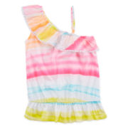 Arizona Ruffle Shoulder Tank Top - Girls 7-16 and Plus