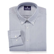 Stafford® Executive No-Iron Cotton Pinpoint Oxford Dress Shirt
