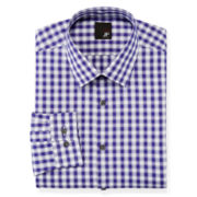JF J. Ferrar® Easy-Care Stretch Dress Shirt − Slim