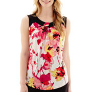 Worthington® Sleeveless Twist-Neck Top - Petite
