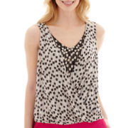 Worthington® Sleeveless Crossover Blouse - Petite