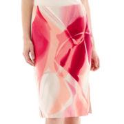 Worthington® Stretch-Knit Pencil Skirt - Petite