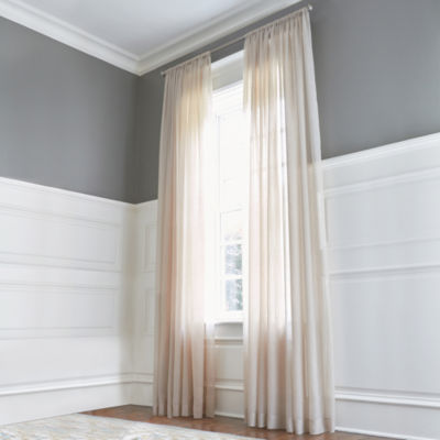 Royal Velvet® Crushed Voile Rod-Pocket Sheer Panel