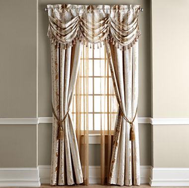 Window Treatment jcpenney valances window treatments : Home Expressions Regan Window Treatments