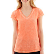 a.n.a® Short-Sleeve V-Neck T-Shirt- Petites