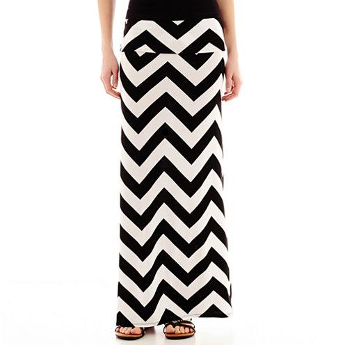 a.n.a® Foldover Wide Waistband Knit Maxi Skirt - Petites