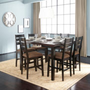 Brewer 7-pc. Extendable Counter-Height Dining Set