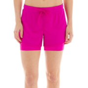 Xersion™ Layered Tricot Knit and Mesh Shorts