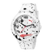 Puma® Form XL White Splash Silicone Strap Watch PU103211020
