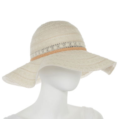 jcpenney.com | Studio 36 Lace Floppy Hat with Braided Band