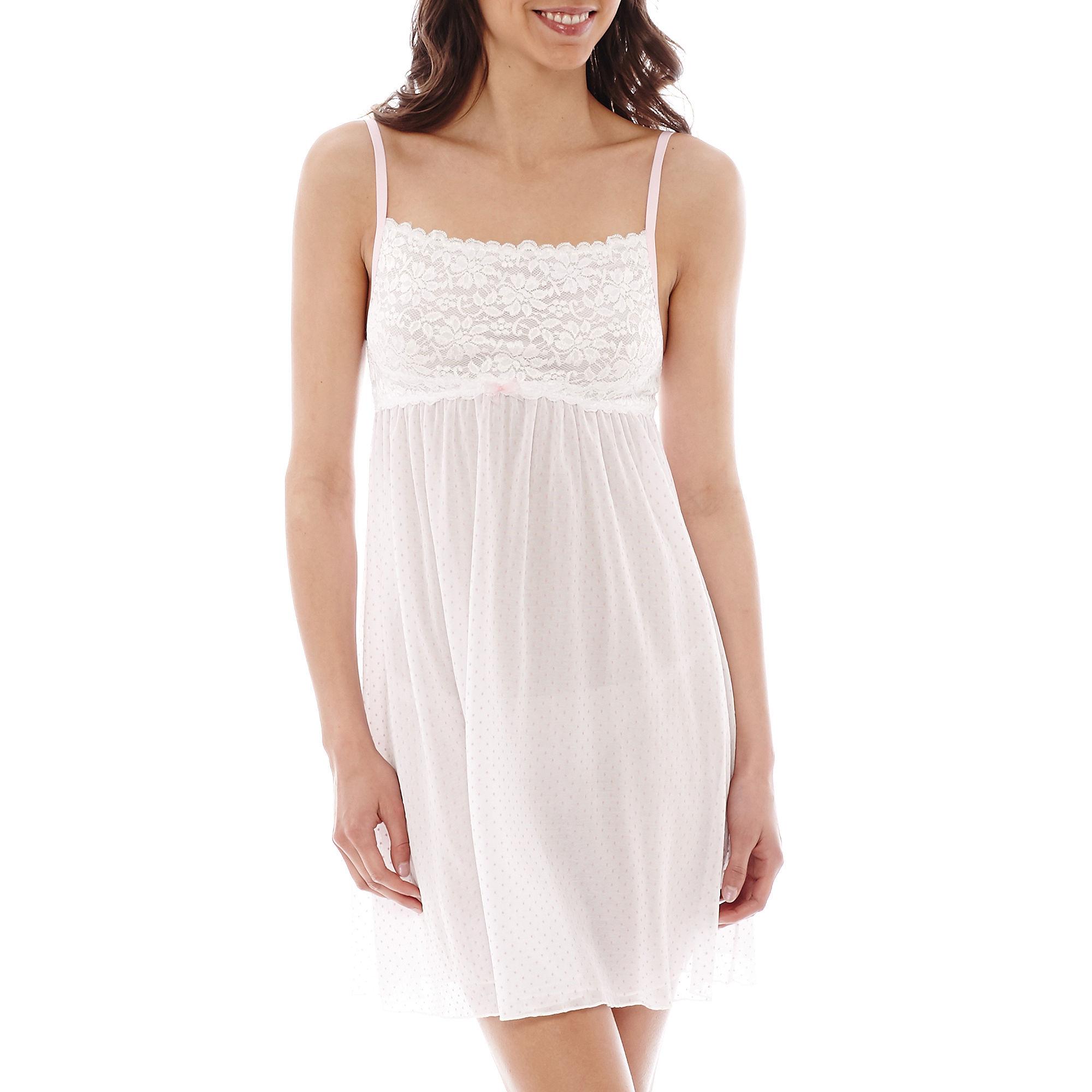 Rosegate Polka Dot Bridal Chemise plus size,  plus size fashion plus size appare