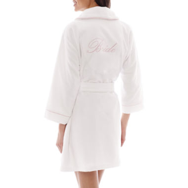 jcpenney.com | Rosegate 3/4-Sleeve Short Terry Bridal Robe
