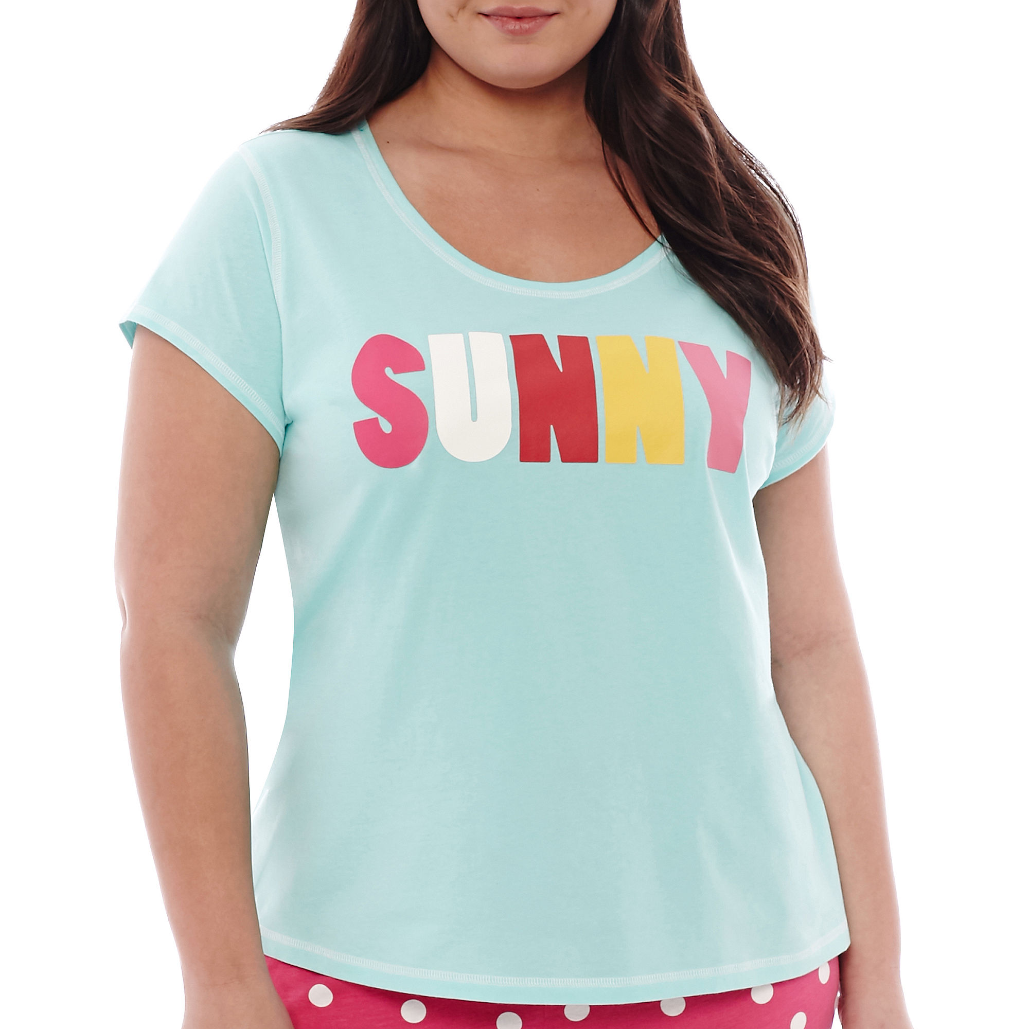 Sleep Chic Short-Sleeve Sleep Tee - Plus plus size,  plus size fashion plus size appare